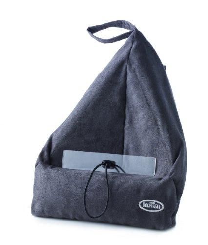 BOOK SEAT, Cuscino da Viaggio, Ottimo per Lettura e Come Supporto per Computer e Tablet, Grigio (Grau)