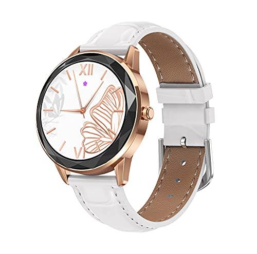 Nuevo Reloj Inteligente HDT7 para Mujer, Pulsera 1,09, círculo Completo, dial Personalizado, podómetro, frecuencia cardíaca, monitorización de la presión Arterial Roseleatherbelt