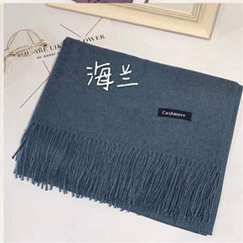 JXFM sjaal voor dames van kasjmier, eenkleurig, lange sjaal, voor herfst en winter, voor dames, sjaal, warme lucht