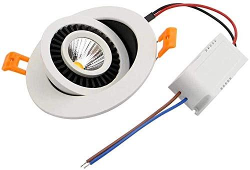 SYunxiang Ángulo ajustable LED Empotrado empotrado Anti-Glare COB ultrafino LED incrustado Embedded Oculted Techo Luz Consumidor y...