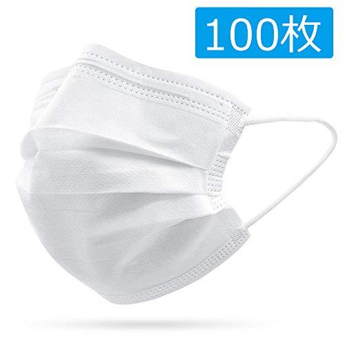 3層構造 不織布 使い捨て 男女兼用 耳掛け式 100枚入 通気性良い 超快適マス ク 使い捨て