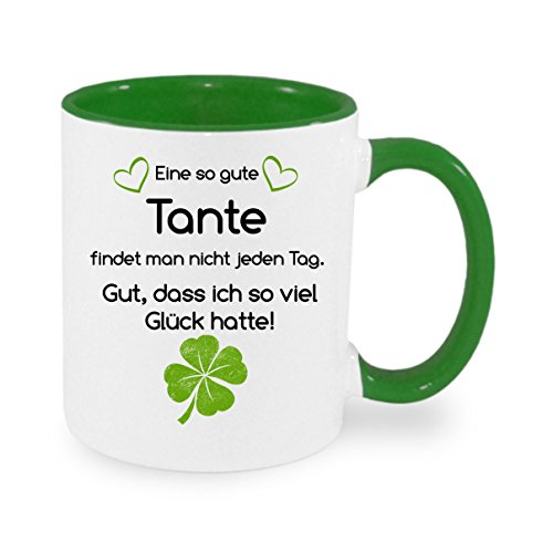 Creativ Deluxe Eine so Gute Tante findet Man Nicht. - Kaffeetasse mit Motiv, Bedruckte Tasse mit Sprüchen oder Bildern - auch individuelle Gestaltung nach Kundenwunsch