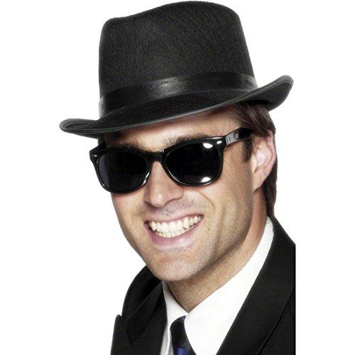 R.H.Smith & Sons Sonnenbrille Blues Brothers Brille schwarz Karnevalsbrille