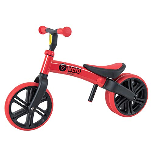 Yvolution Y Velo Junior Toddler Bike | No-Pedal Balance Bike | Ages 18 Months to 4 Years (Red Refresh)