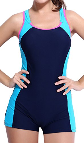 BeautyIn Swimmers Bathing Suit Tha gives Bust Support Plus Size Bathing Suits For Women,X Back,14