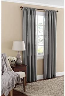 Mainstays Textured Solid Curtain Panel , 38x84 , Gray