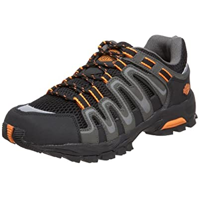 Harley-Davidson Men's Chase Athletic Motorcycle Hiker, Black/Orange, 10 M US