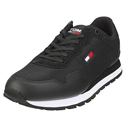 Tommy Jeans Herren Lifestyle Mix Runner Sneaker, Schwarz, 41 EU