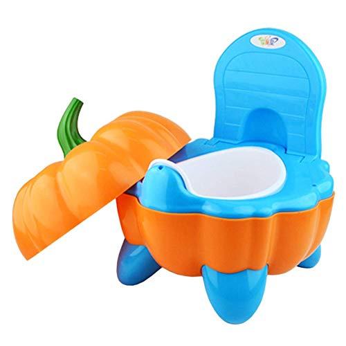 Yiyu Los niños Orinal Asiento de Inodoro con Tapa, ToiletTrainer bebé higiénico bebé Sienta a los niños IR al baño WC WC Muy Estable for los niños pequeños x (Color : Orange)