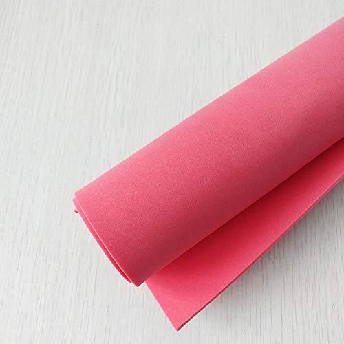 50 * 50 cm 2 mm dik PE-schuimpapier Handgemaakte lakens Spons Scrapbooking Ambachten voor bloemen Achtergrond DIY Handgemaakt Cadeaubon Decor, Rood
