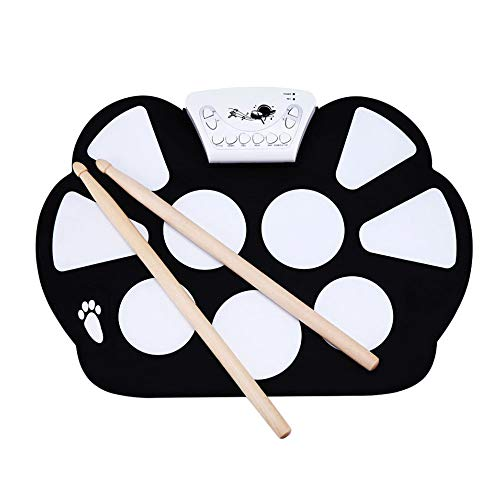 Eoncore Portable Electronic Roll up Drum Pad Kit Silicon Foldable with Stick