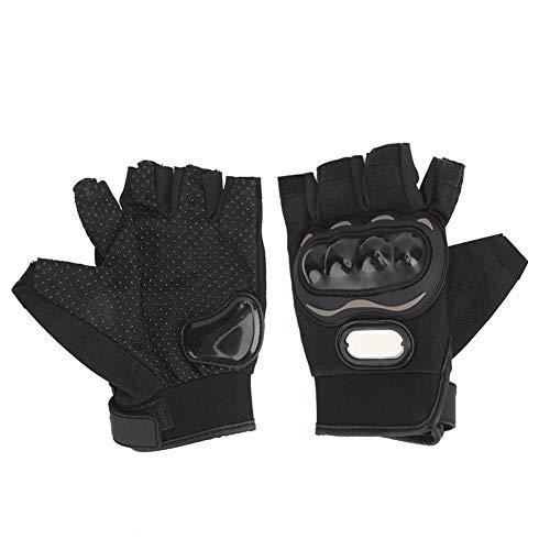 Duokon Moto-handschoenen, motorhandschoenen met halve vinger Racing beschermende rijhandschoenen Antislip ademend XXL