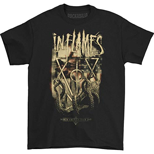 In Flames Men's Octopus 2015 Tour T-shirt Medium Black