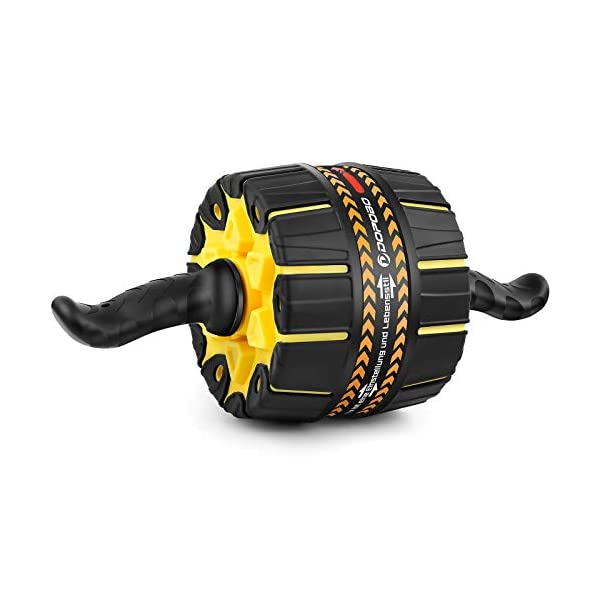 Dopobo Ab Roller Wheel, Ab Roller Pro : Ultra-Wide Ab Wheel with Built-in Resistance,...