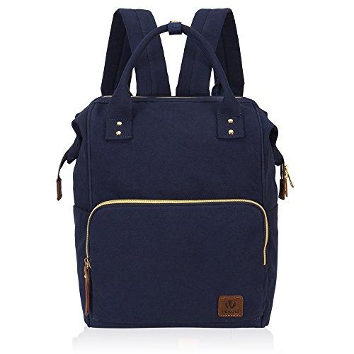 Veegul Stylish Doctor Style Multipurpose Travel Backpack Casual Backpack for Men Women Single Pocket Navy Blue