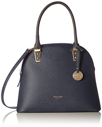 Marco Tozzi - 61028, Bolsos maletín Mujer, Blau (Navy Comb), 34x29x12 cm (B x H T)