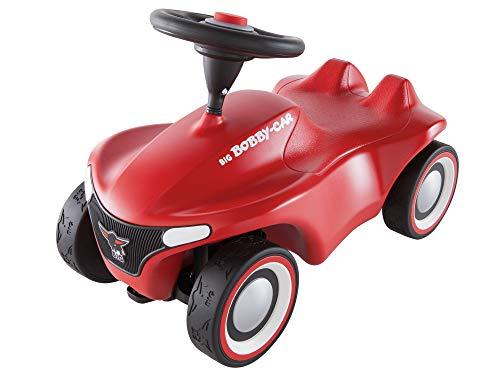 BIG-Bobby-Car-Neo Rot - Rutschfahrzeug für drinnen und draußen, Kinderfahrzeug mit Flüsterreifen im modernen Design, für Kinder ab 1 Jahr