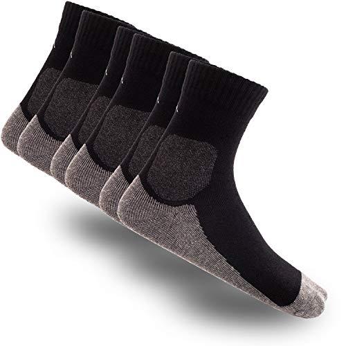 gipfelsport Wandersocken aus Merino Wolle - Socken für Outdoor, Trekking I Größe 24-27 I Schwarz I 3X Paar