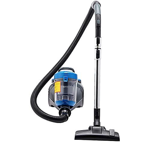 Amazon Basics – Potente aspirador de cilindro sin bolsa, para suelos duros y alfombras, filtro HEPA, compacto y ligero, 700W, 2,0l (UE)