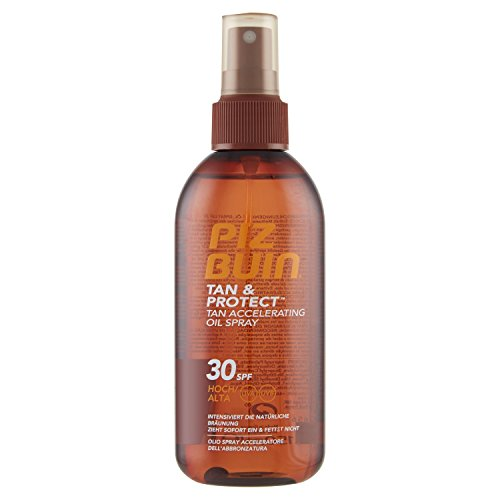 PIZ BUIN Tan & Protect Tan Accelerating Oil Spray, Bräunungsintensivierendes Öl-Spray, LSF 30, 1 x 150 ml