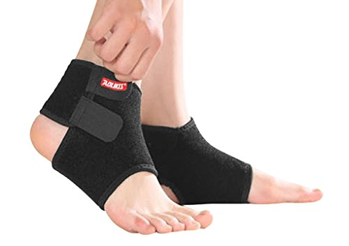 Kids Ankle Brace Support Sleeve, Help Prevent Ankle Sprains for Running, Dance, Hiking, Basketball, Football, Baseball,Tennis, Volleyball, Gymnastics, Athletics - One pair