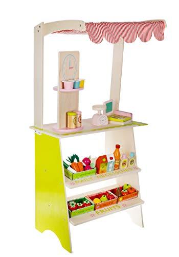 ISO TRADE Kaufladen aus Holz mit Zubehör Kaufmannsladen für Kinder 11247