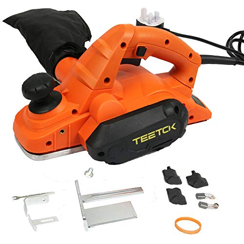 Electric Planer for Wood with Dust Bag 82mm Blades 17000 RPM...