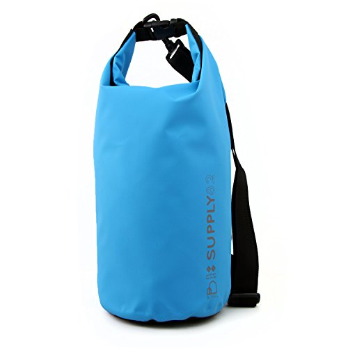 Buhbo 5 Liter Supply82 Waterproof Dry Bag (Blue) Best Stuff Sack for Kayaking Fishing Rafting Boating Camping Beach Swimming Gym