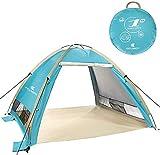 Zwini Pop Up Tente de Plage pour 3-4 Personnes Portable UPF 50+ Protection UV Abris solaires Extérieure Automatique Sun Shade Instant Tent Cabana extérieure pour bébé, Famille
