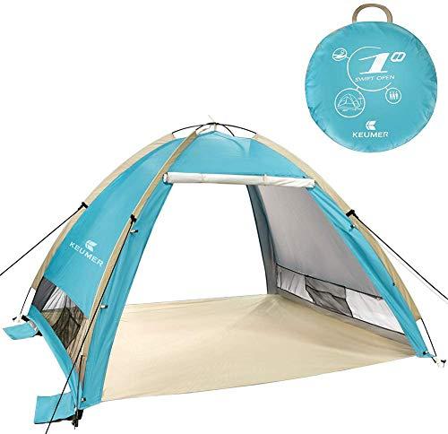 Zwini Pop Up Beach Carpa para 3-4 Personas Portátil UPF 50+ Protección UV Refugios solares Exterior automático Sun Shade Carpa instantánea Cabaña al Aire Libre para bebé, Familia