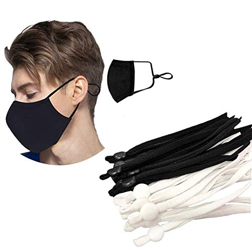 100 Pcs Sewing Elastic Band Cord Black-A
