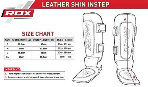 RDX Leder Boxen Schienbeinschutz Kampfsport Schienbein Abbildung 3