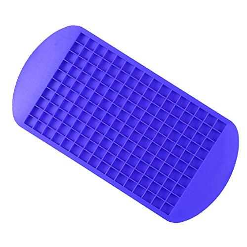 Cubiteras Para Hielo Silicona Grado alimenticio 160 Cavidad Bar de silicona Cubo de hielo Bandeja Mini cubitos de hielo Pequeño Molde cuadrado MAQUETA MAQUETA COCINA Cubitera Silicona ( Color : Blue )