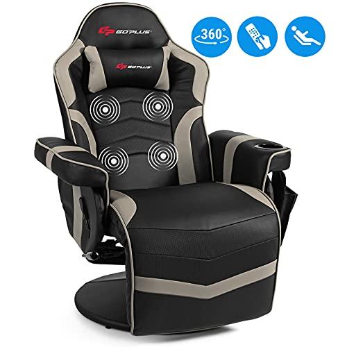 POWERSTONE Gaming Recliner Massage Sofa Ergonomic...