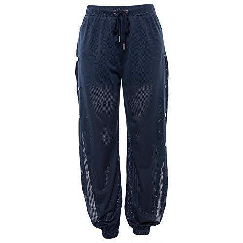 Pantalone da Donna con Taglio Comodo e Comodo da Stivale , per Gli Sport in Palestra, Apertura Regolabile alla Caviglia Pantaloni Sportivi Casual con Coulisse Large