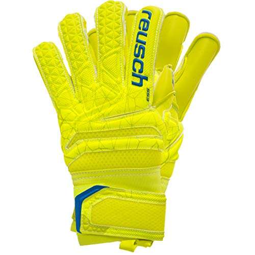 Reusch Kinder Fit Control S1 Evolution Finger Support Junior Torwarthandschuh, Lime/Safety Yellow/Lime, 4