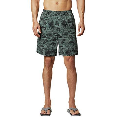 Columbia Pantalones Cortos de Agua Super Backcast para Hombre, Hombre, 1715381, Estanque de impresión Polinesia, Medium x 6