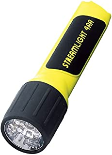Streamlight 68201 4AA ProPolymer LED Flashlight with White LEDs, Yellow – 67 Lumens