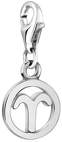 Nenalina Sternzeichen Charm Anhänger, Widder, 925 Sterling Silber für alle gängigen Charmträger 713293-000