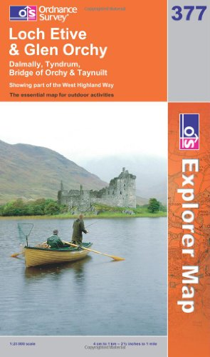 OS Explorer map 377 : Loch Etive & Glen Orchy