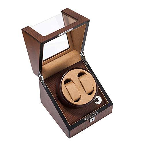 Gymqian Hölzerne Automatische Uhrwickelkasten, Mechanischer Uhr Shaker, Uhrenaufbewahrungsbox Mit Schloss, Antönmagnetischer Silent Watch Shaker, Uhrenaufbewahrungsbox Mit Verriegel