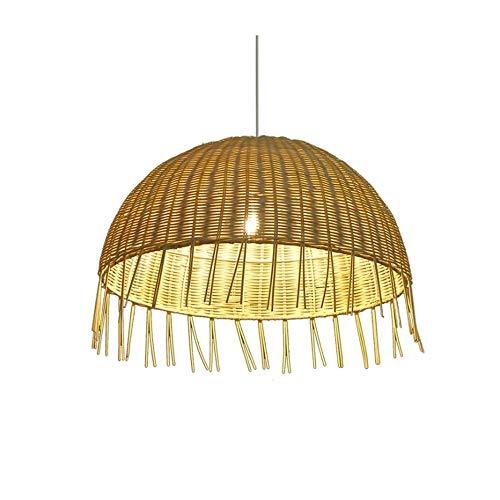 JZUKU Luces de Techo de araña Tejido A Mano Retro Simple Lámpara De Araña Creativo Personalizado Redondo De La Lámpara Decorativa