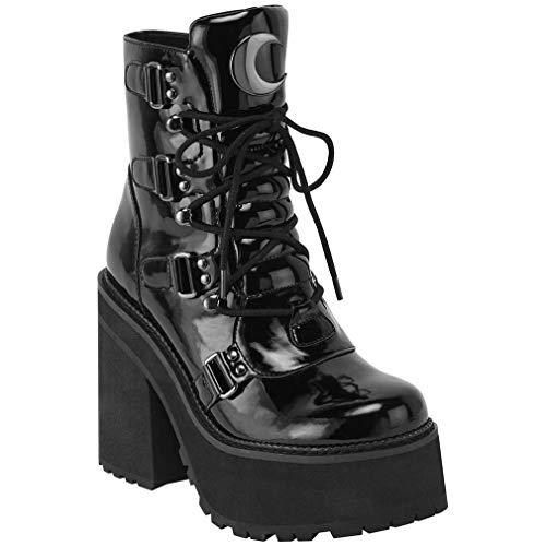 Killstar Plateaustiefel - Broom Rider Lack Platform Boots 41
