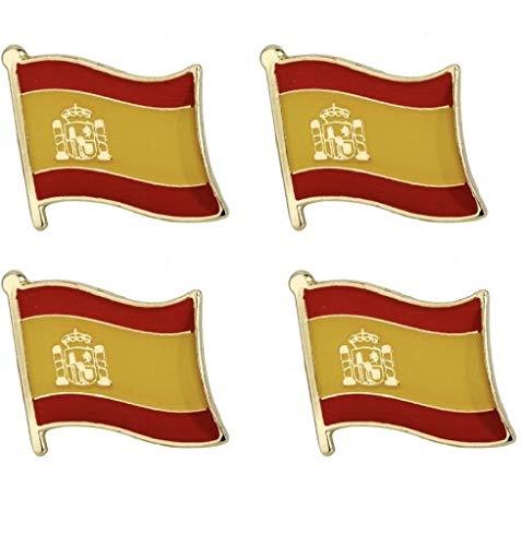 Juego de 4 x Insignias de Pin de Bandera de España.