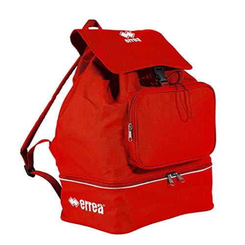 Errea - Mercury Zaino sportivo per bambini, universale, con scomparto per scarpe, (Rot), taglia unica