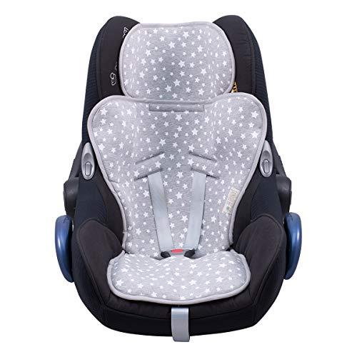 JANABEBE Colchoneta Universal para silla grupo 0,1,2,3 (WHITE STAR) ⭐