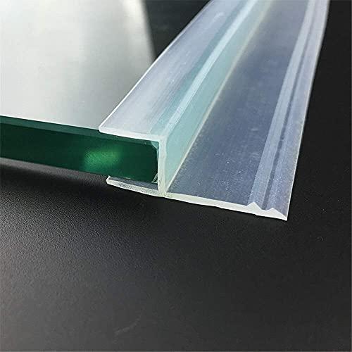 Dichtungsstreifen für Glasdichtungen, rahmenlos, Duschtür, Fenster, Balkon, Dichtungsstreifen, Zugluftstopper, 1 m, effiziente Abdichtung (Dicke: 8 mm, Breite: 20 mm)