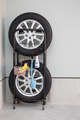 ミヤグチ企販『薄型タイヤラック』