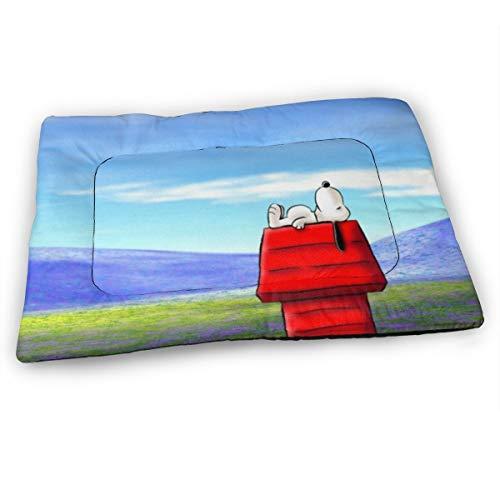 KANHAHA Snoopy Hundebett Matte, weich, waschbar, rutschfeste Matratze, für Hunde und Katzen