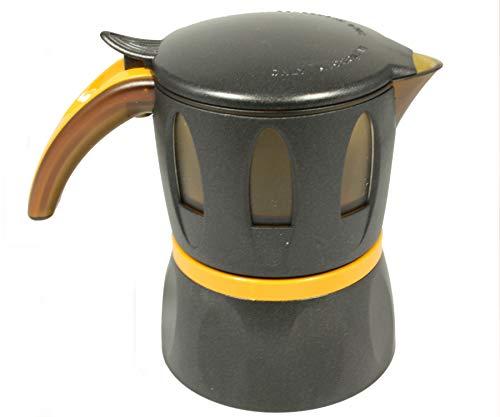 Caffettiera per Microonde Cesarita la Moka de I Cesaroni, caffè in Polvere o Cialde (Nera)